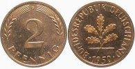 2 Pfennig 1950 G   zaponiert, Polierte Platte  250,00 EUR kostenloser Versand