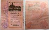0,10 Mark Kriegsjahr 1917 Scheckleiste hellrot Bielefeld 001Stadt und S... 500,00 EUR450,00 EUR kostenloser Versand