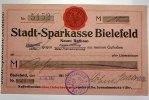10 Mark 03  Bielefeld 002Stadt auf Stadtsparkasse Bielefeld 1914 II  595,00 EUR kostenloser Versand