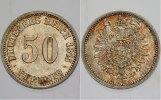 50 Pfennig 1875 C Kleinmünzen  fast Stempe...