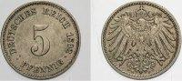 5 Pfennig 1892 E Kleinmünzen  Vorzüglich, Patina  350,00 EUR kostenloser Versand