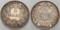 1 Mark 1911 F Kleinmünzen  Patina, vorzüglich - Stempelglanz  225,00 EUR  zzgl. 5,00 EUR Versand