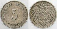 5 Pfennig 1892 E Kleinmünzen  Patina, fast vorzüglich  275,00 EUR kostenloser Versand
