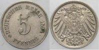5 Pfennig 1894 G Kleinmünzen  Fast Stempelglanz  375,00 EUR kostenloser Versand