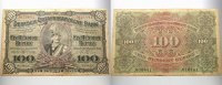 Banknoten nach Rosenberg 100 Rupien Geldscheine der deutschen Kolonien, Deutsch-Ostafrika 1905-1917.