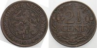 Niederlande-Knigreich 2 1/2 Cent Wilhelmina I. 1890-1948.