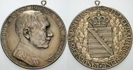 Sachsen-Albertinische Linie Silbermedaille Friedrich August III. 1904-1918.