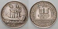Silbermedaille 1742 Regensburg-Stadt  Patina, sehr schön +  295,00 EUR