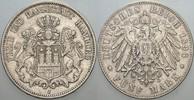 5 Mark 1896 J Hamburg  Winz. Randfehler, s...