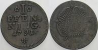 Pfennig 1791 Detmold Lippe-Detmold, Friedrich Wilhelm Leopold, 1789-180... 25,00 EUR  zzgl. 5,00 EUR Versand