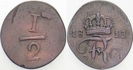 1/2 Kreuzer 1813 Württemberg Friedrich I. 1797-1806-1816. Sehr schön  70,00 EUR  zzgl. 5,00 EUR Versand