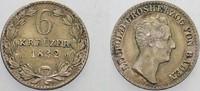 6 Kreuzer 1832 Baden Leopold 1830-1852. Patina, sehr schön - vorzüglich  25,00 EUR  zzgl. 5,00 EUR Versand