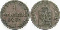 1 Pfennig 1867 B Anhalt-Dessau Leopold Friedrich 1817-1871. Sehr schön  10,00 EUR  zzgl. 2,00 EUR Versand