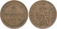 1 Pfennig 1862 A Anhalt-Dessau Leopold Friedrich 1817-1871. Sehr schön  12,00 EUR  zzgl. 2,00 EUR Versand