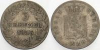 3 Kreuzer 1855 Nassau Adolph 1839-1866. Schön - sehr schön  7,00 EUR  zzgl. 2,00 EUR Versand