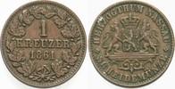 1 Kreuzer 1861 Nassau Adolph 1839-1866. Sehr schön  6,00 EUR  zzgl. 2,00 EUR Versand