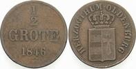 1/2 Grote 1846 Oldenburg Paul Friedrich August 1829-1853. Fast sehr sch... 5,00 EUR  zzgl. 2,00 EUR Versand