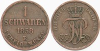 1 Schwaren 1858 Oldenburg Nicolaus Friedrich Peter 1853-1900. Sehr schön  5,00 EUR  zzgl. 2,00 EUR Versand
