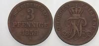 3 Pfennige 1858 Oldenburg Nicolaus Friedrich Peter 1853-1900. Schön - s... 12,00 EUR  zzgl. 2,00 EUR Versand