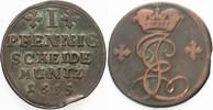1 Pfennig 1695 Hildesheim Bistum Jobst Edmund von Brabeck 1688-1702 Ste... 40,00 EUR  zzgl. 5,00 EUR Versand