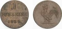 sogen. Judenpfennig 1822 Frankfurt-Stadt  Sehr schön - vorzüglich  20,00 EUR  zzgl. 2,00 EUR Versand