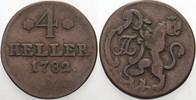 4 Heller 1782 Hessen-Kassel Friedrich II. 1760-1785. Fast sehr schön  20,00 EUR  zzgl. 3,00 EUR Versand