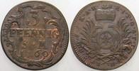 3 Pfennig 1760 Erfurt Mainz, Erzbistum Johann Friedrich Karl Graf von O... 85,00 EUR  zzgl. 5,00 EUR Versand