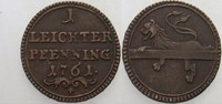 1 Leichter Pfennig 1761 Bamberg, Bistum Adam Friedrich von Sinsheim 175... 18,00 EUR  zzgl. 3,00 EUR Versand