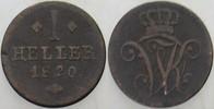 1 Heller 1820 Hessen-Kassel Wilhelm I. 1785-1821. Schön  8,00 EUR  zzgl. 3,00 EUR Versand