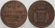 1 Guter Pfennig 1821 Hessen-Kassel Wilhelm II. 1821-1847 Sehr schön  14,00 EUR  zzgl. 3,00 EUR Versand