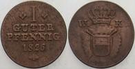 1 Guter Pfennig 1826 Hessen-Kassel Wilhelm II. 1821-1847 Sehr schön  15,00 EUR  zzgl. 3,00 EUR Versand