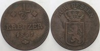 1/2 Kreuzer 1827 Hessen-Kassel Wilhelm II. 1821-1847 Fast sehr schön  9,00 EUR  zzgl. 3,00 EUR Versand