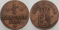 1/4 Kreuzer 1829 Hessen-Kassel Wilhelm II. 1821-1847 Sehr schön  25,00 EUR  zzgl. 5,00 EUR Versand