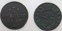 1 Pfennig 1790 Hessen-Darmstadt Ludwig IX. 1768-1790. Fundbelag, sonst ... 25,00 EUR  zzgl. 5,00 EUR Versand