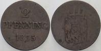 2 Pfennig 1835 Bayern Ludwig I. 1825-1848. Sehr schön  35,00 EUR  zzgl. 5,00 EUR Versand