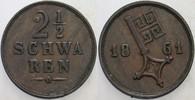 2 1/2 Schwaren 1861 Bremen  Sehr schön  5,00 EUR  zzgl. 3,00 EUR Versand