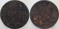 1 Heller 1818 Frankfurt  Fleckig, sehr schön  6,00 EUR  zzgl. 3,00 EUR Versand