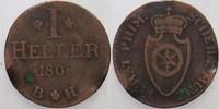 1 Heller 1808 Fürstprimatische Staaten Fürstprimas Carl Theodor von Dal... 15,00 EUR  zzgl. 3,00 EUR Versand