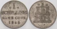 1 Schilling 1855 Hamburg  Fast sehr schön  2,00 EUR  zzgl. 3,00 EUR Versand