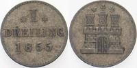 1 Dreiling 1855 Hamburg  Sehr schön  5,00 EUR  zzgl. 3,00 EUR Versand