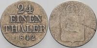 1/24 Taler 1842 S Hannover Ernst August 1837-1851. Ge.Erh./fast sehr sc... 5,00 EUR  zzgl. 3,00 EUR Versand