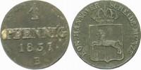 1 Pfennig 1837 B Hannover Wilhelm IV. 1830-1837. Sehr schön  9,00 EUR  zzgl. 3,00 EUR Versand