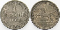 1 Groschen 1862 B Hannover Georg V. 1851-1866. Sehr schön  5,00 EUR  zzgl. 3,00 EUR Versand