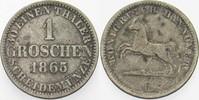 1 Groschen 1865 B Hannover Georg V. 1851-1866. Sehr schön  5,00 EUR  zzgl. 3,00 EUR Versand