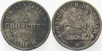 1/2 Groschen 1858 B Hannover Georg V. 1851-1866. Fast sehr schön  5,00 EUR  zzgl. 3,00 EUR Versand