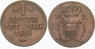 1 Guter Pfennig 1824 Hessen-Kassel Wilhelm II. 1821-1847 Sehr schön  15,00 EUR  zzgl. 3,00 EUR Versand