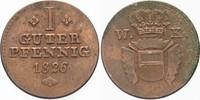 1 Guter Pfennig 1826 Hessen-Kassel Wilhelm II. 1821-1847 Sehr schön  15,00 EUR  plus 5,00 EUR verzending