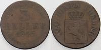 3 Heller 1845 Hessen-Kassel Wilhelm II. 1821-1847 Schön  4,00 EUR  plus 5,00 EUR verzending
