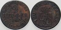 2 Heller 1843 Hessen-Kassel Wilhelm II. 1821-1847 Fleckige Patina, sehr... 25,00 EUR  zzgl. 5,00 EUR Versand