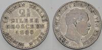 2 1/2 Silbergroschen 1860 Hessen-Kassel Friedrich Wilhelm I. 1847-1866.... 10,00 EUR  zzgl. 3,00 EUR Versand